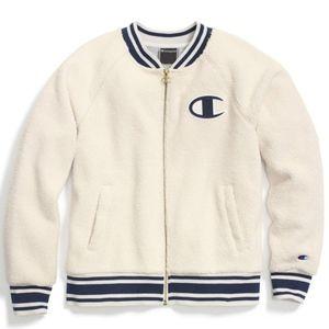 Super cute white furry champion jacket